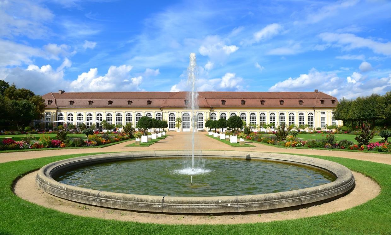 Ansicht der Orangerie im Hofgarten in Ansbach Ausstellungsort der Bayerischen Landesausstellung 2022. © Foto: Stadt Ansbach