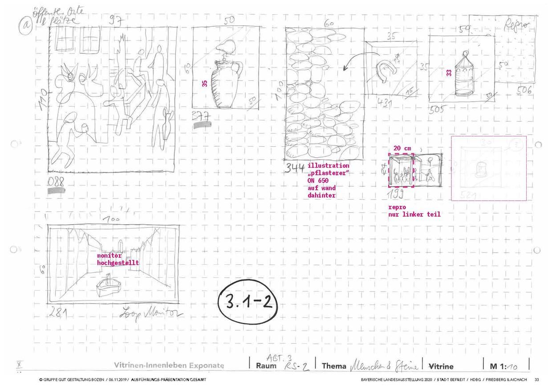 Detailgestaltung aus dem dritten Ausstellungsabteilung. © Gruppe Gut Gestaltung Bozen