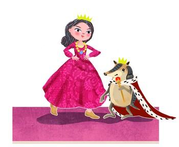 Prinzessin Nene und König Gustl © HdBG | Illustrationen: Sybille Hauck | www.isydesign.de