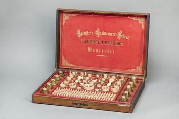 Koffer eines Handelsvertreters für Speckstein-Gasbrenner, um 1880, Fichtelgebirgsmuseum, Wundsiedel © Haus der Bayerischen Geschichte | Foto: Uwe Moosburger