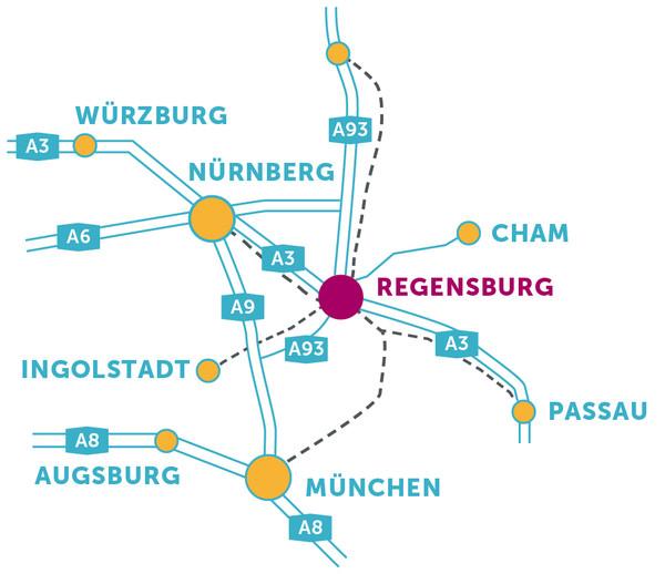 Anfahrtsskizze Regensburg ©Peter Schmidt Group