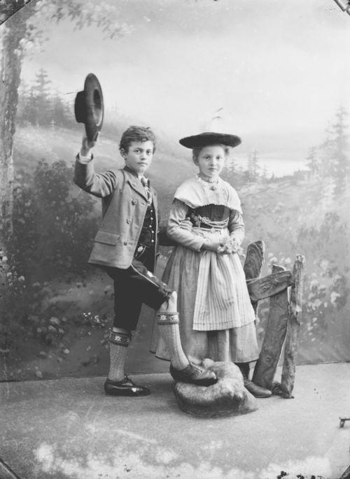 Aufnahme aus dem Fotostudio von Georg Pöltl, um 1910