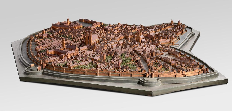 So sah die heutige Landeshauptstadt um 1570 aus. Sandtnermodell der Stadt München © Bayerisches Nationalmuseum, München | Foto: Bastian, Krack