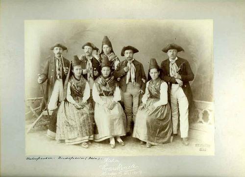 Gruppe aus Bischofsheim, Oktoberfest Trachtenzug 1895
