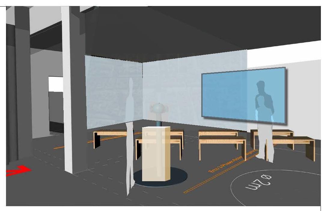 Entwurf zu den virtuellen Rundflügen durch die Residenzstadt München. © Gruppe Gut Gestaltung Bozen