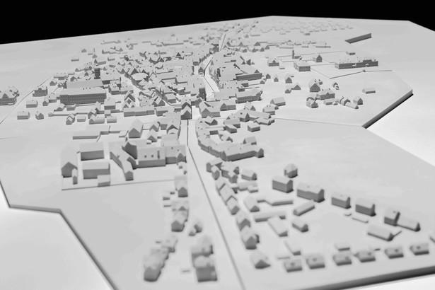 Detailansicht des Aichacher Stadtmodells. Realgetreue Rekonstruktion des historischen Stadtbilds. © Haus der Bayerischen Geschichte | Foto: Herbert Rath