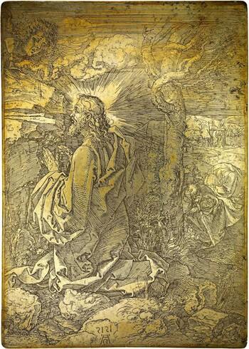 Radierplatte von Albrecht Dürer, 1515 © Staatsbibliothek Bamberg, Kupferplatte 25 | Foto: Gerald Raab