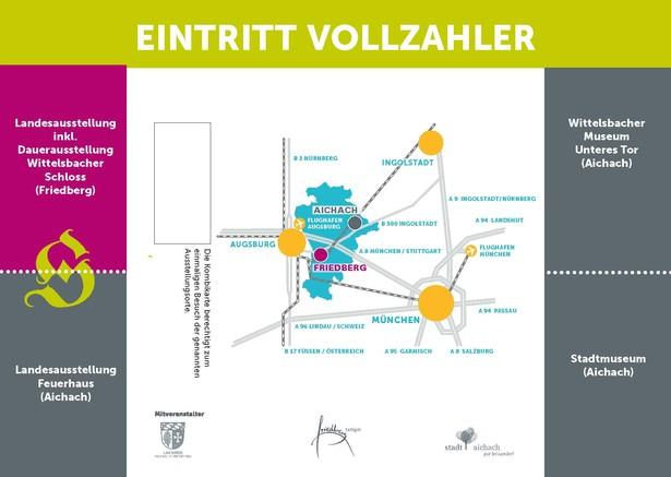 Die Rückseite der Vorverkaufskarte für Vollzahler. © Haus der Bayerischen Geschichte | Entwurf: GROW communications