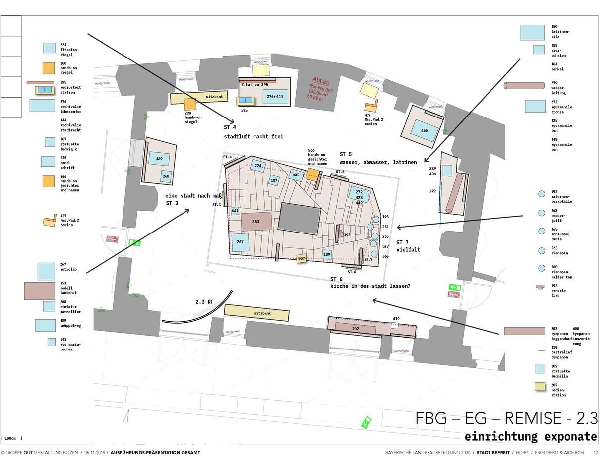 Blick in zweite Ausstellungsabteilung in Friedberg © Gruppe Gut Gestaltung Bozen