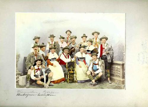 Gruppe aus Traunstein, Oktoberfest Trachtenzug 1895