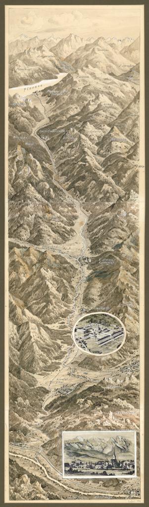 Vom Loisachtal zum Plansee in Tirol, Handzeichnung von Eugen Felle, 1925