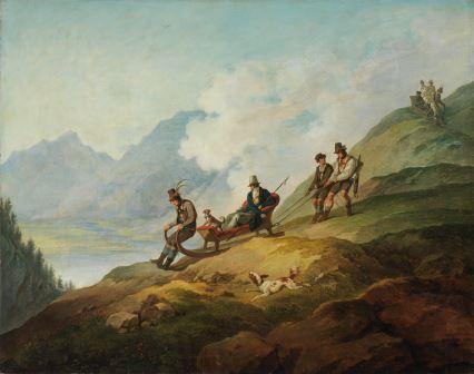 Philipp von Foltz zugeschrieben, Max II. bei der Abfahrt nach der Jagd, 1850-1865