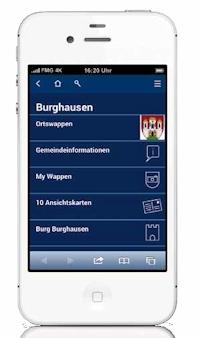 """Ein Paradebeispiel der Web-App """"Geschichte vor Ort"""" ist das oberbayerische """"Burghausen"""". Hier gibt es Informationen zu Ortswappen, Gemeindedaten, Burgen und Klöstern. Eine fotografische Reise in die Vergangenheit bieten die historischen Ansichtskarten der Gemeinde. Äußerst unterhaltsam ist der Bereich MyWappen mit einer Fotogalerie von Nutzern, die das Burghauser Stadtwappen an außergewöhnlichen Orten suchten und fanden."""