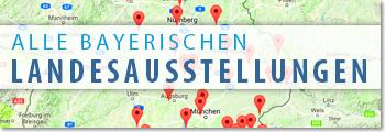 Landkarte mit den Orten der Ausstellungen