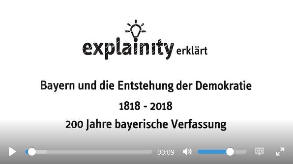 Vertiefende Informationen zur Bayerischen Verfassungsgeschichte finden sich in diesem Erklärvideo der Landeszentrale für politische Bildungsarbeit
